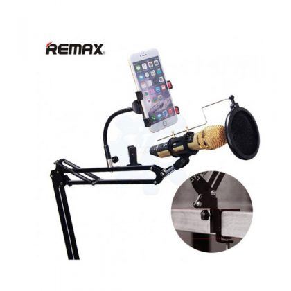 Mobile Studio Microphone With Adjustable Stand And Pop Filter- (Remax CK100)