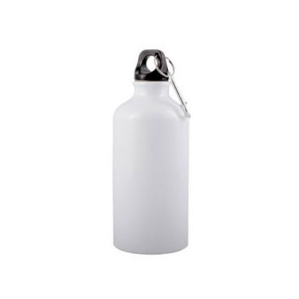 Aluminium Sipper Water Bottle White Plain Printed Photo Personalize Promotion 600 ML
