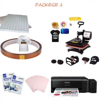 Heat Press Machine Combo package 1