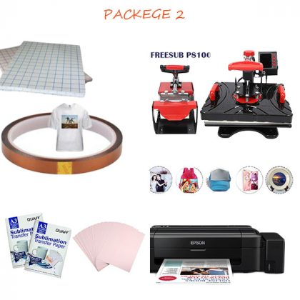 Heat Press Machine Combo package 2